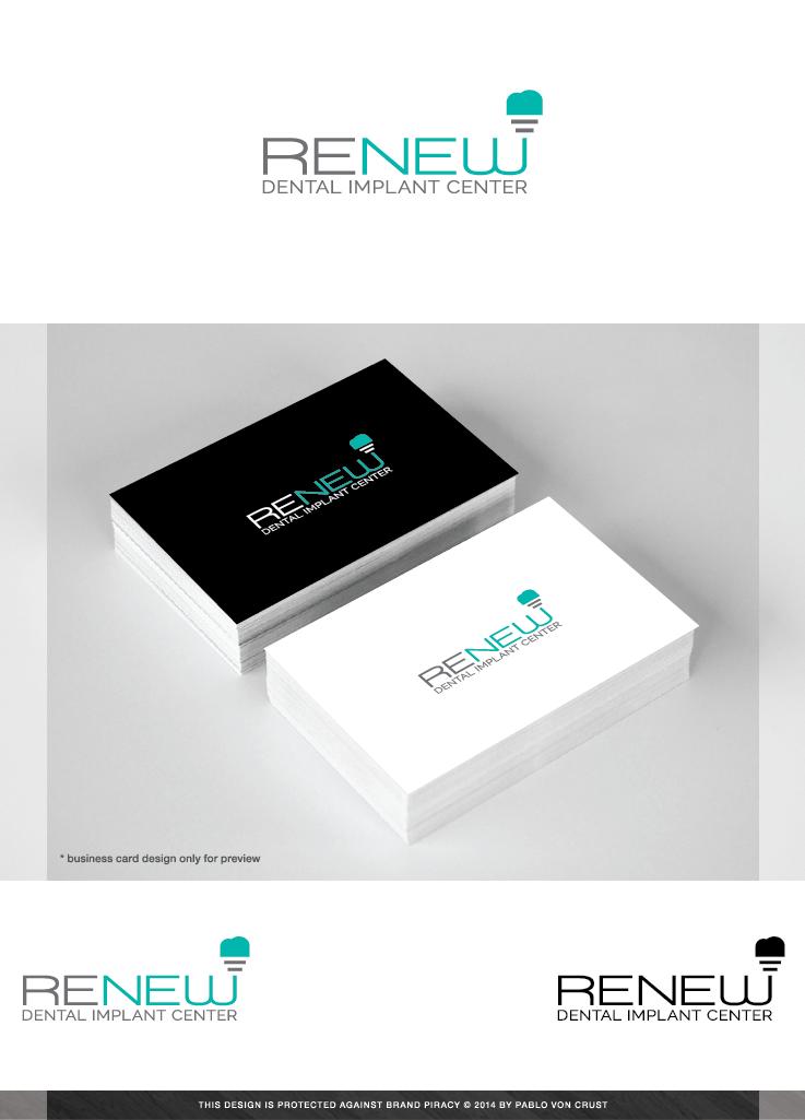 Dental Logo Logo Design by Pablo Von Crust For Renew Dental Implant Center Design