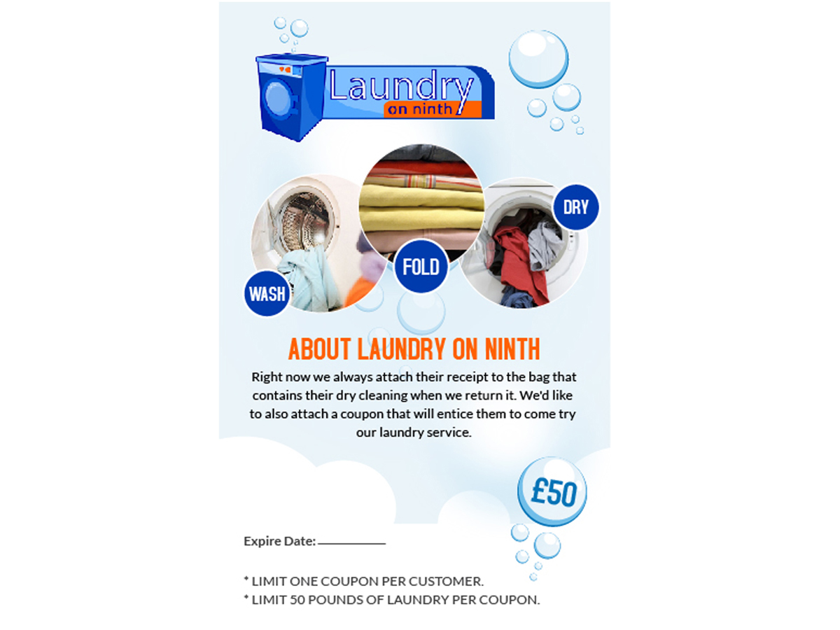 professional dry cleaning flyer designs for a dry cleaning flyer design design 4793562 submitted to cleaners needs bounce back coupon for