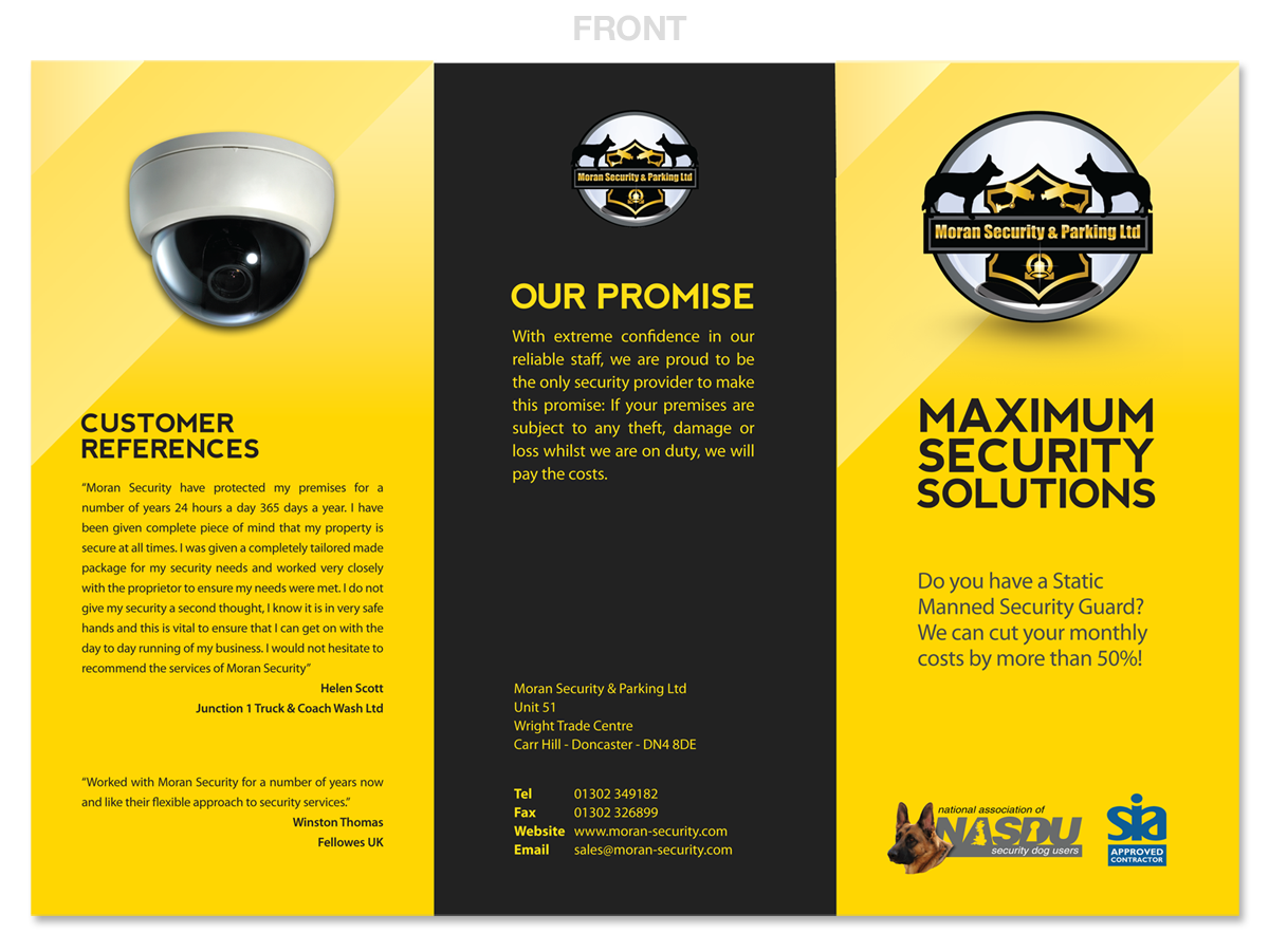 security company brochure template - elegant playful government brochure design for moran