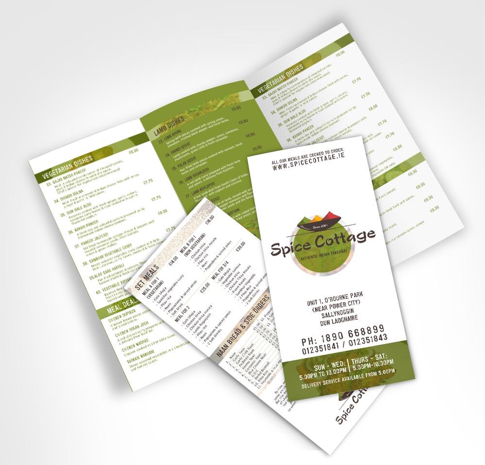 Elegant modern landscape menu design for a company by for Garden design jobs ireland