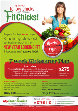 Flyer Design by Theziners - My Nutritionist Promotional Flyer
