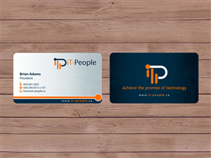 Business Card Design job – IT-People Business Card Design – Winning design by Priyo Subarkah