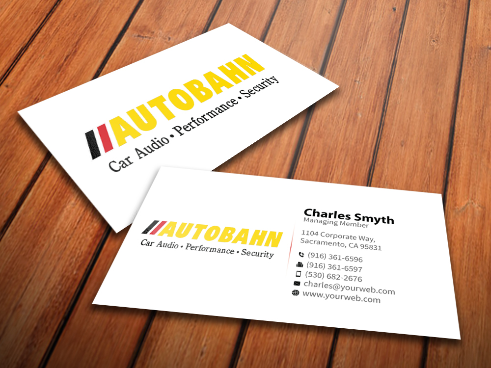 business card design by mediaproductionart for autobahn design 4805807 - Electronic Business Card