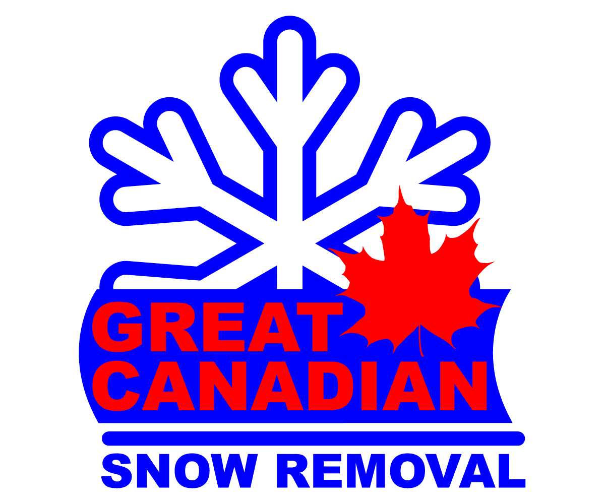 snow removal logo design for great canadian snow removal