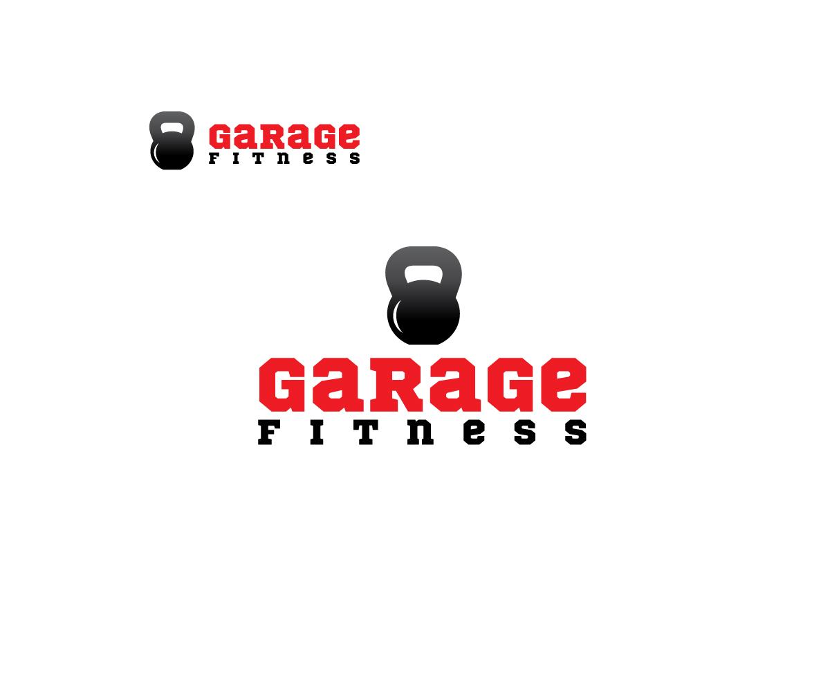 Upmarket bold training logo design for garage fitness by