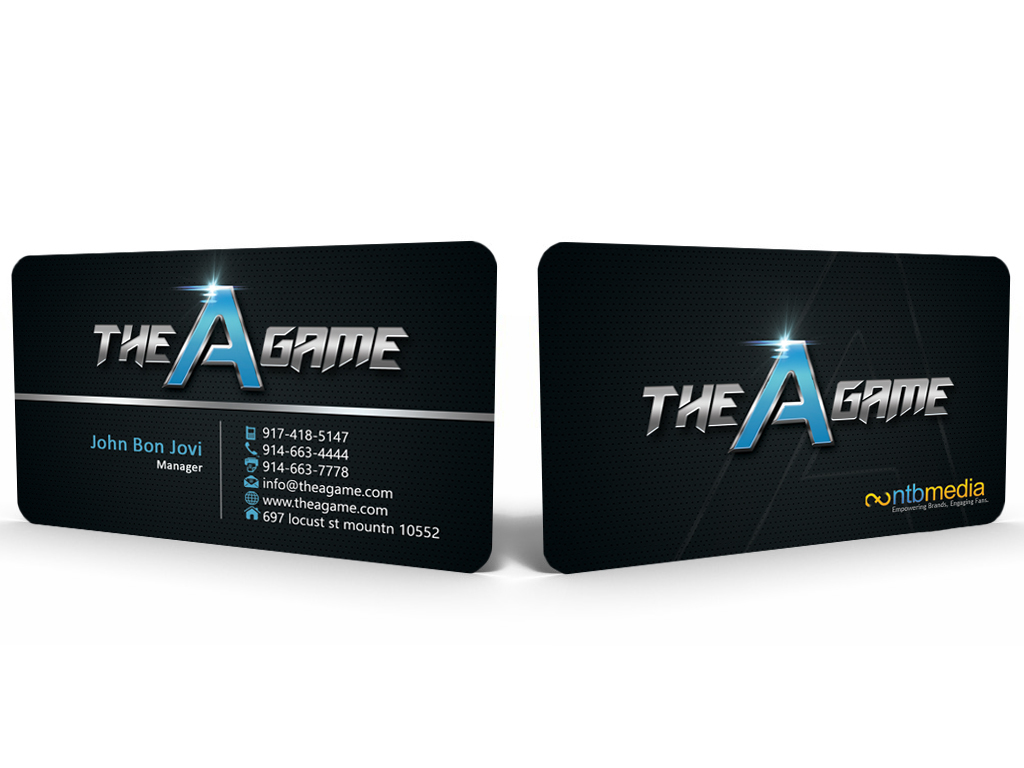 Modern masculine logo and business card design for gabe for Game designer business cards