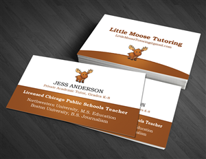 Tutoring business card design galleries for inspiration little moose tutoring business card design by artman colourmoves