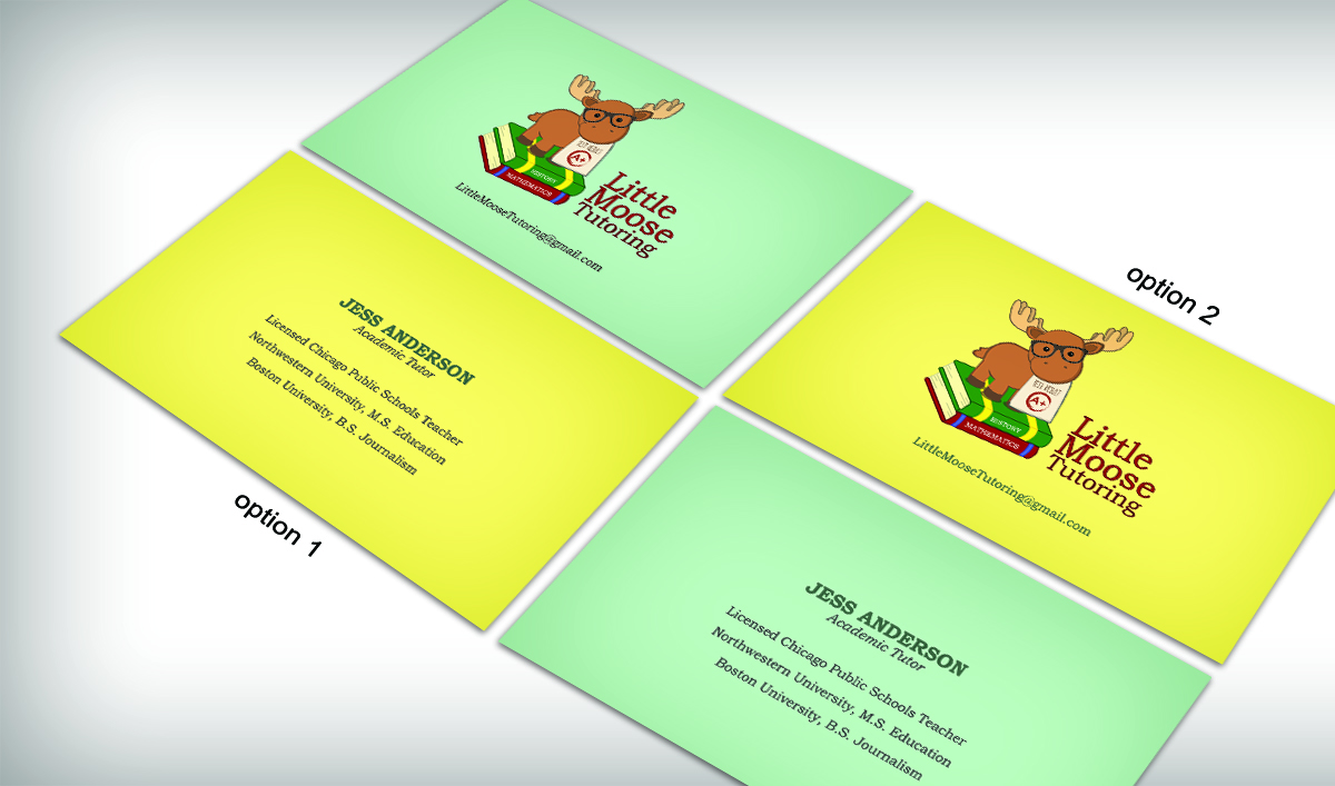 Tutoring Business Card Design for a Company by ...