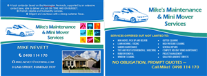 Postcard Design by StandOUT Design-123prints - Mike's Maintenance and Mini Mover Services.. I'...