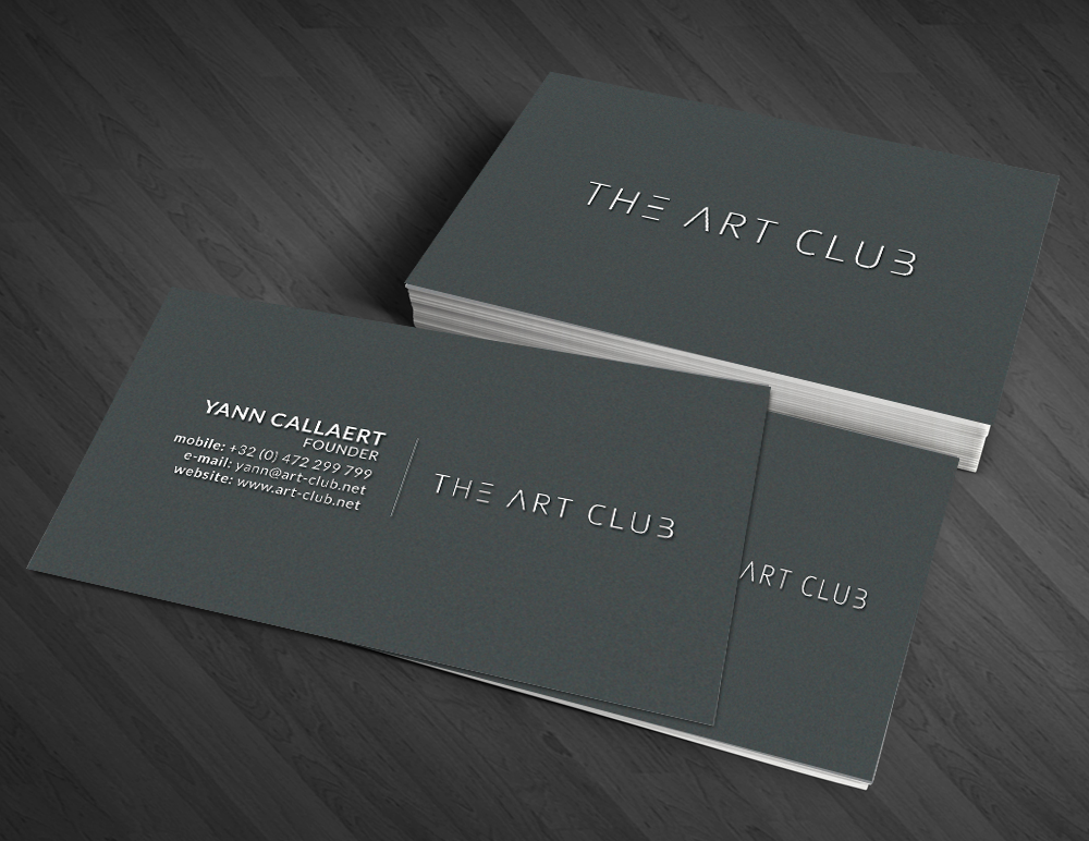 Upmarket serious business card design for caos vof by artman business card design by artman for online art gallery art management firm looking for a reheart Image collections