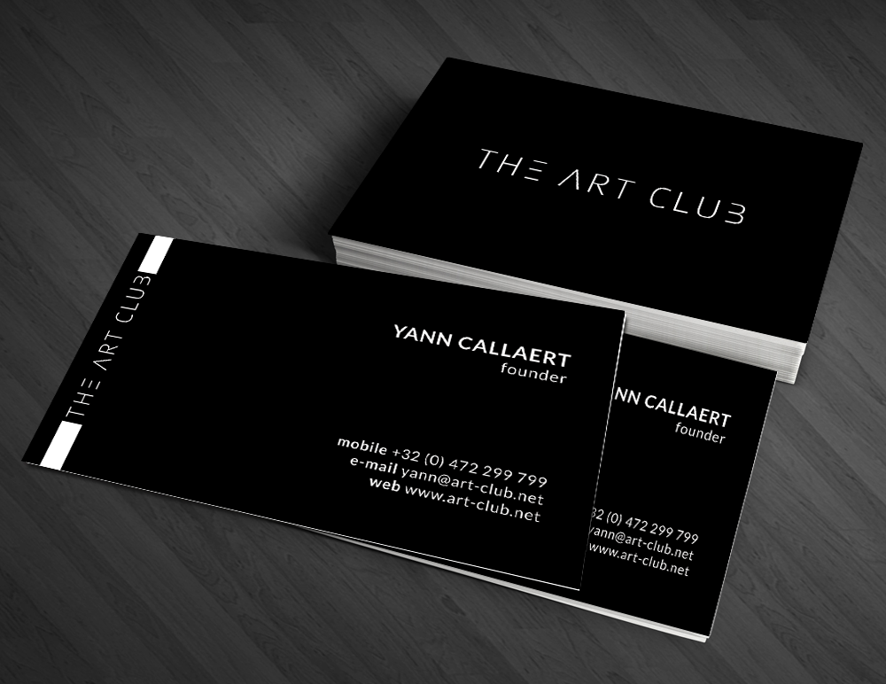 Upmarket serious artists business card design for caos vof by business card design by artman for caos vof design 4873984 reheart Choice Image