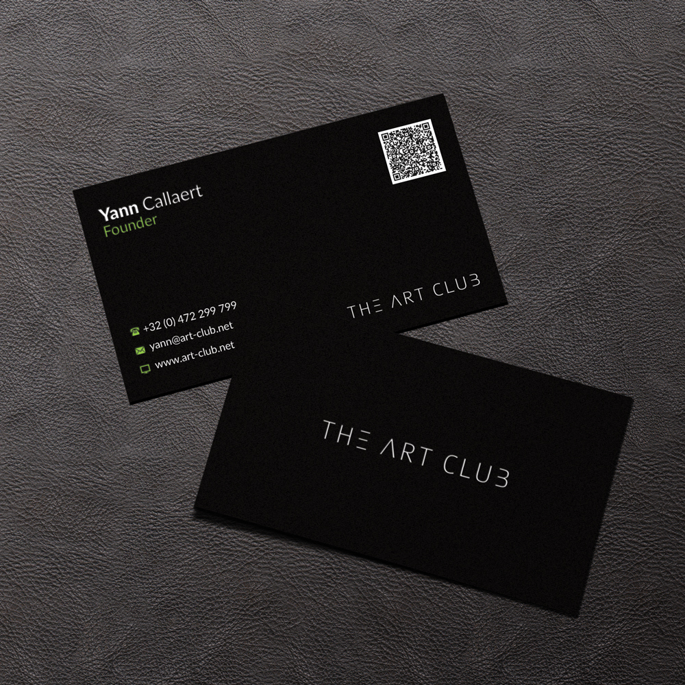 Upmarket serious business card design for caos vof by negaria business card design by negaria for online art gallery art management firm looking for a reheart Image collections