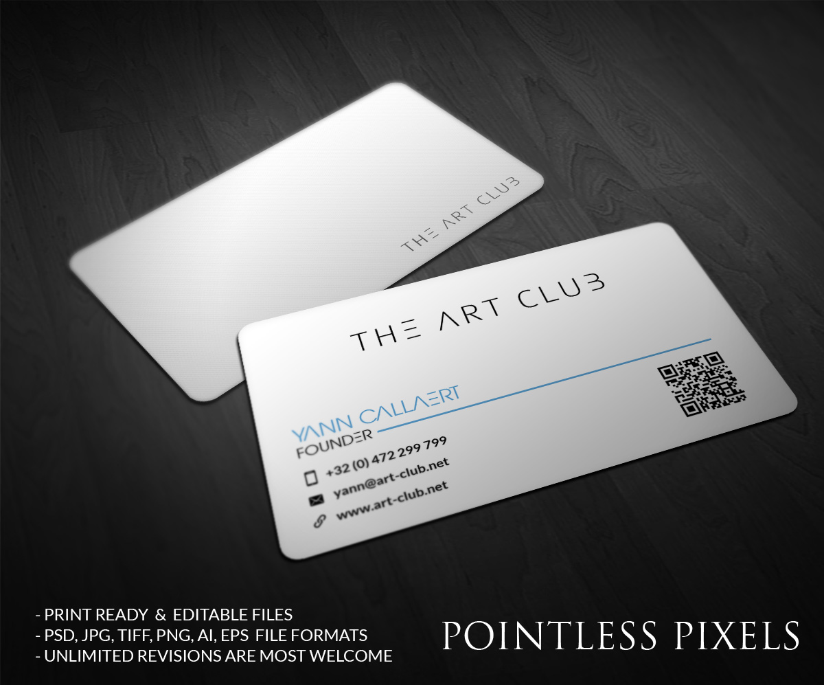 Upmarket serious business card design for caos vof by pointless business card design by pointless pixels india for online art gallery art management firm looking reheart Image collections