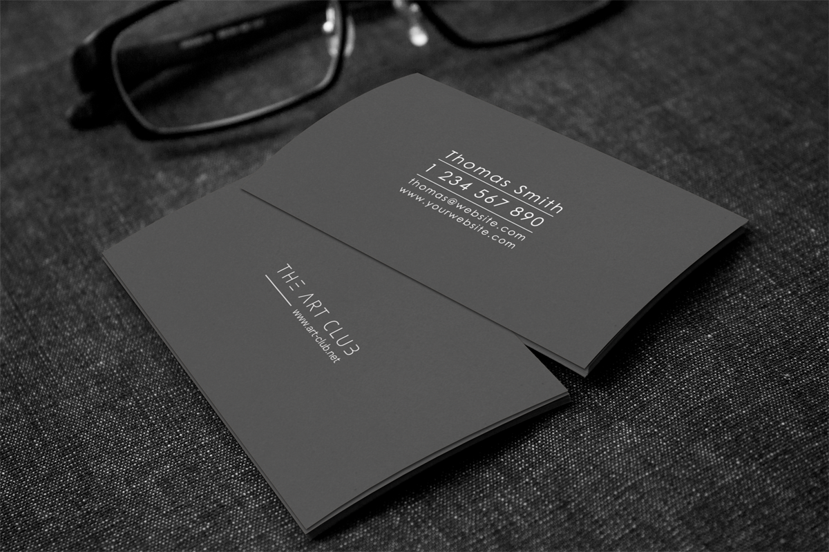 Upmarket serious business card design for caos vof by flechero business card design by flechero for online art gallery art management firm looking for a reheart Image collections