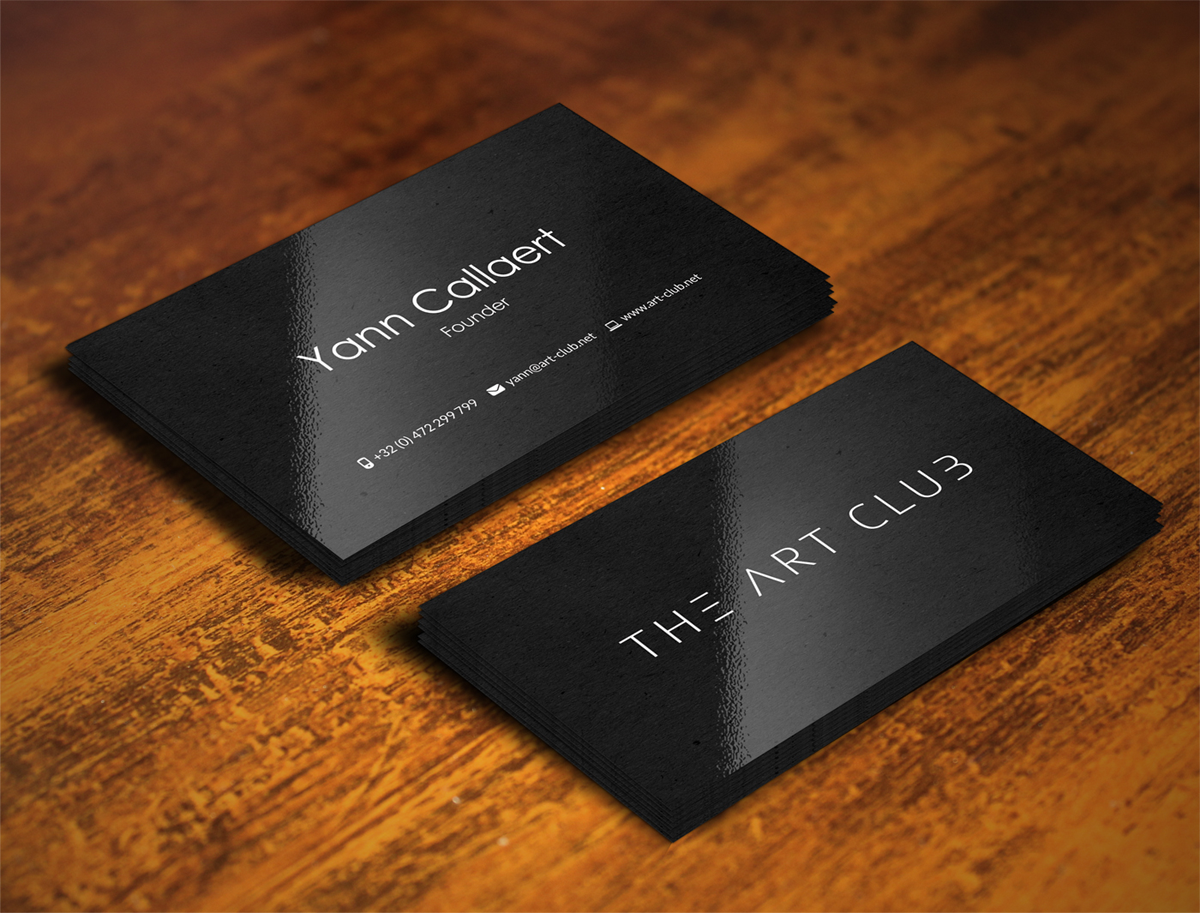 Upmarket Serious Artists Business Card Design For Caos Vof By