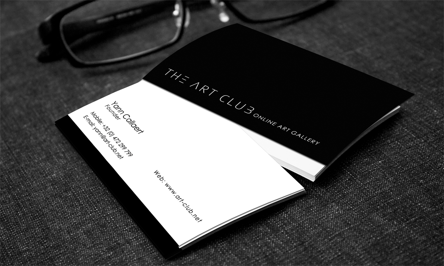 Upmarket serious business card design for caos vof by stylez business card design by stylez designz for online art gallery art management firm looking for reheart Image collections
