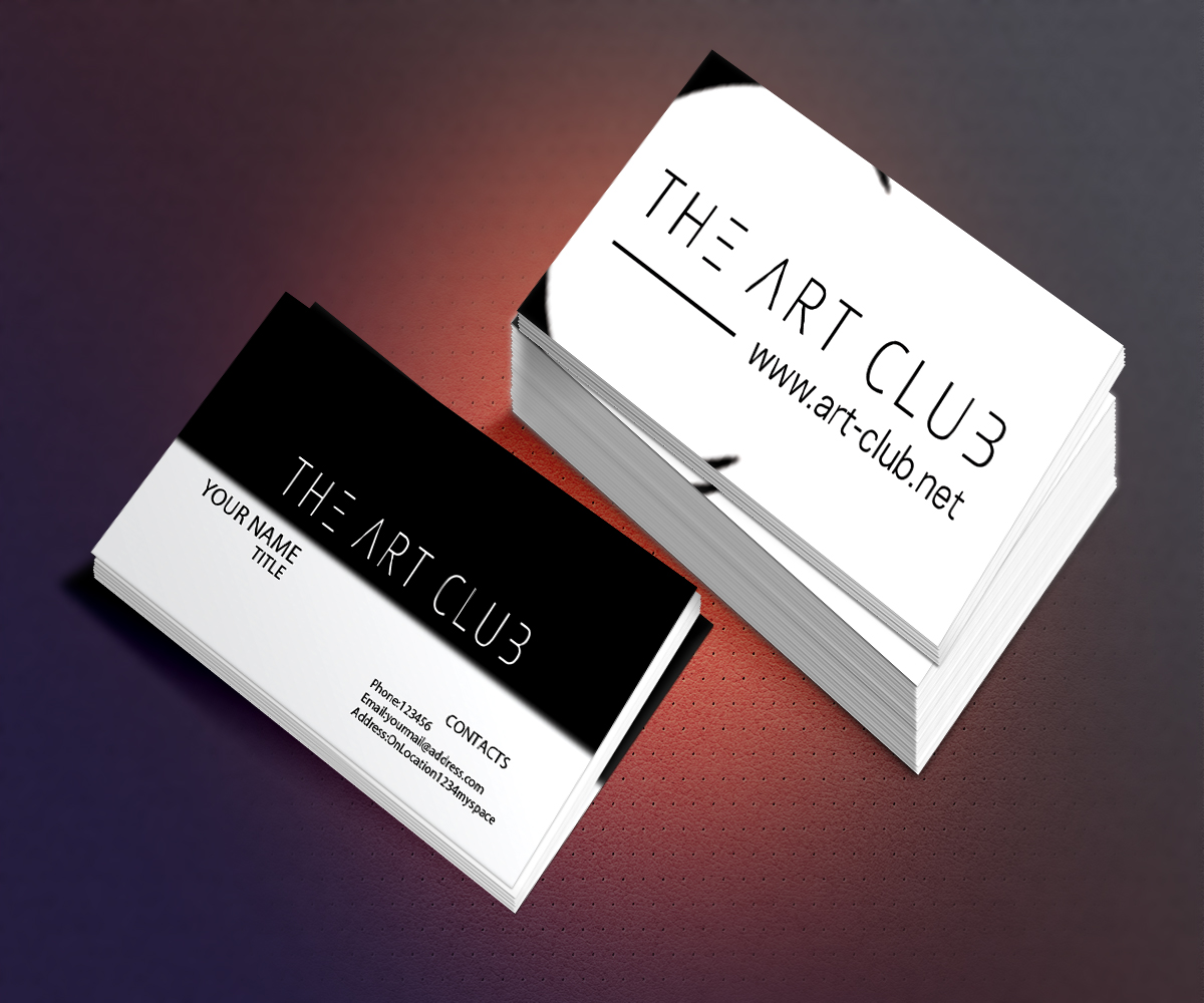 Upmarket serious business card design for caos vof by realkent business card design by realkent for online art gallery art management firm looking for a reheart Gallery