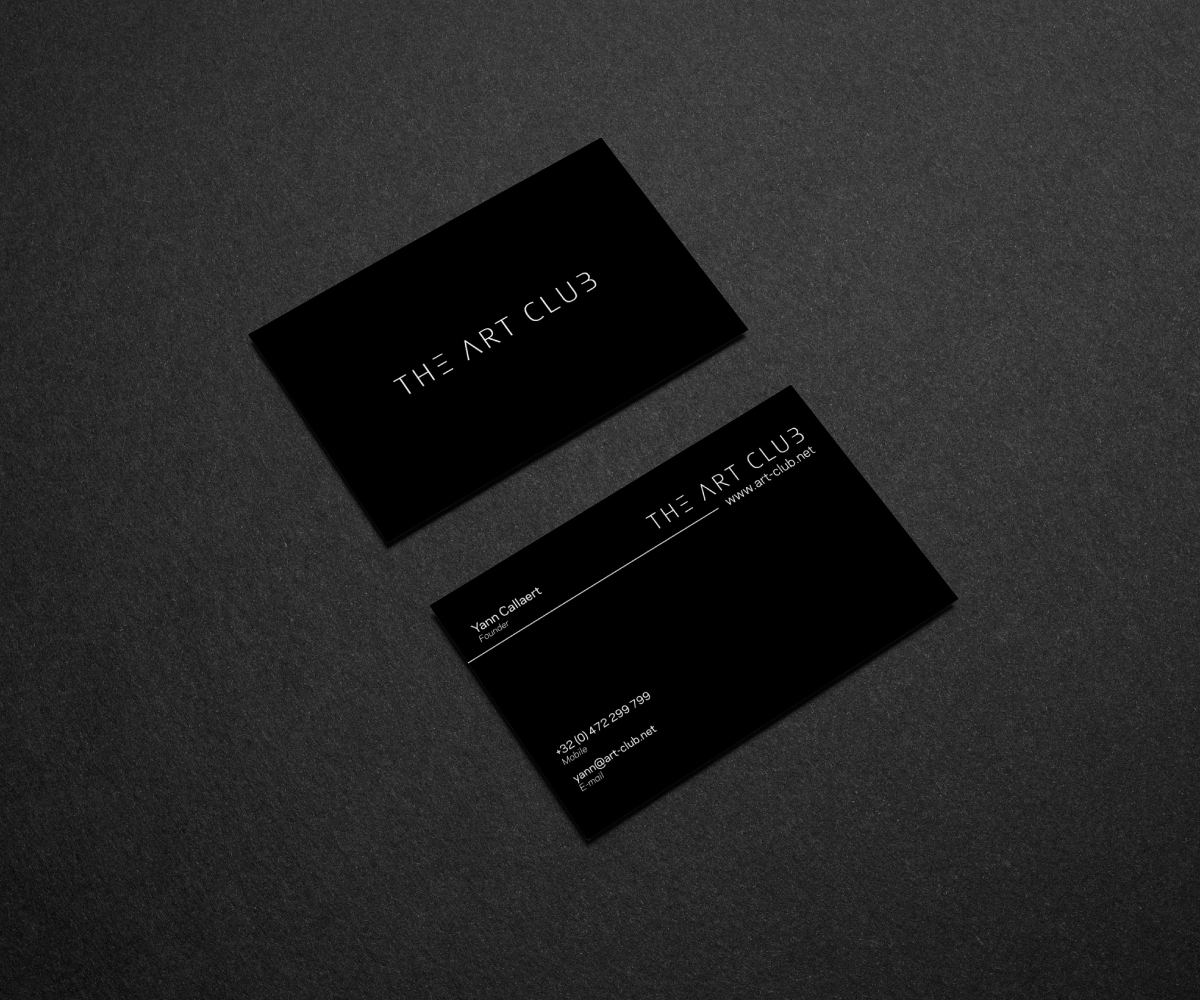 Upmarket serious business card design for caos vof by rodrigo business card design by rodrigo porfiro for online art gallery art management firm looking for reheart Image collections