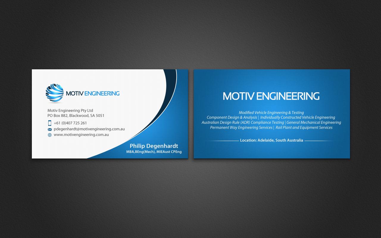 Serious, Modern Business Card Design for Philip Degenhardt by ...