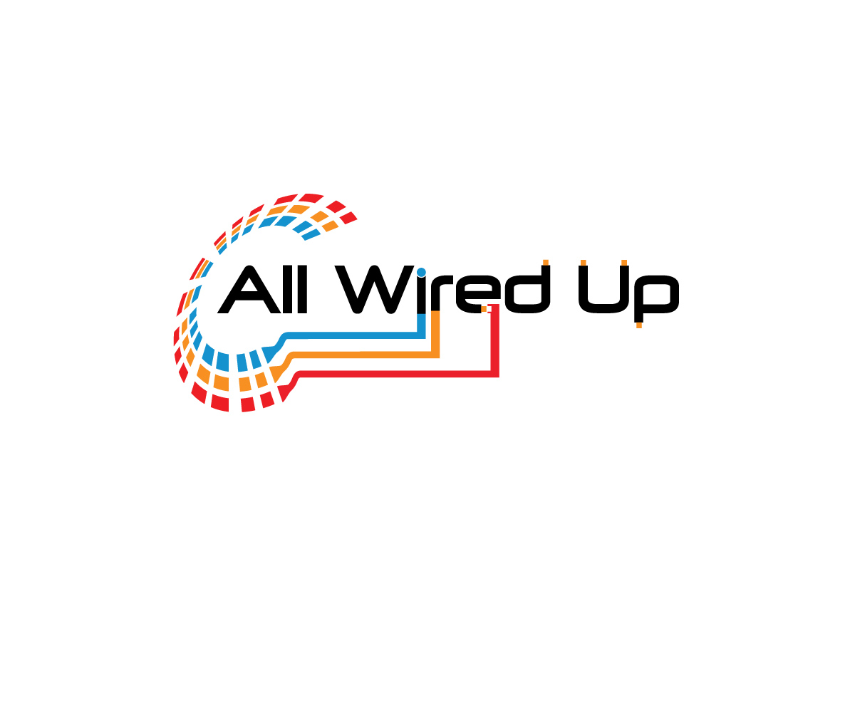 Masculine, Bold, Electrical Logo Design for All Wired Up by Rednex ...