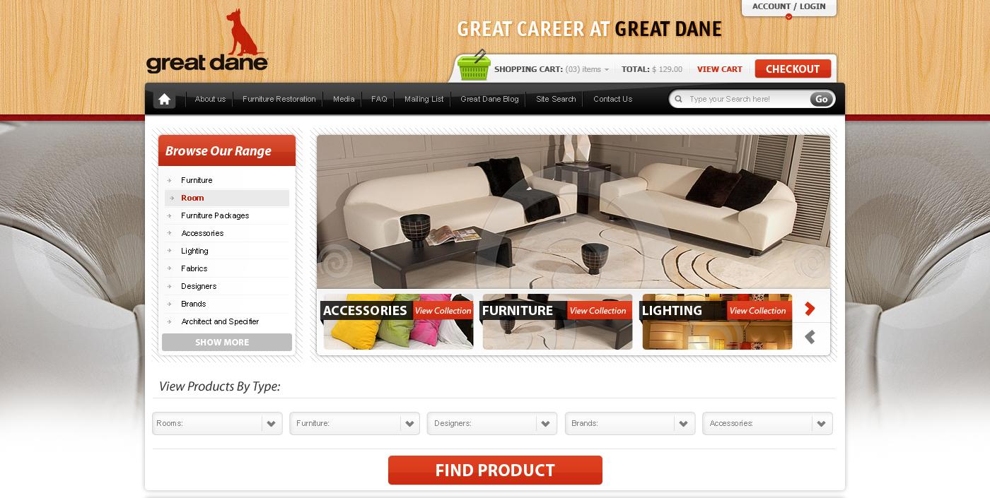 Modern upmarket retail web design for alkemi for Decor 18 international pty ltd