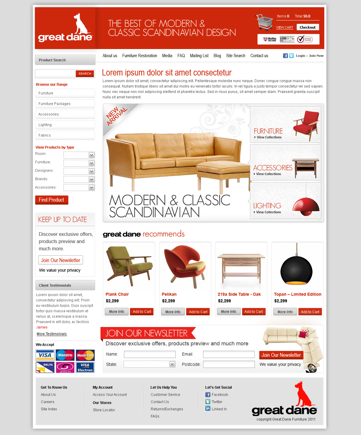 52 modern upmarket furniture store web designs for a for P s furniture flyer