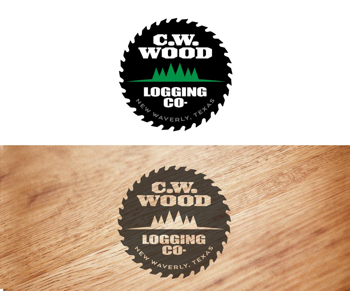 Logo Design By Thomas DeHart For CWWood Logging Company