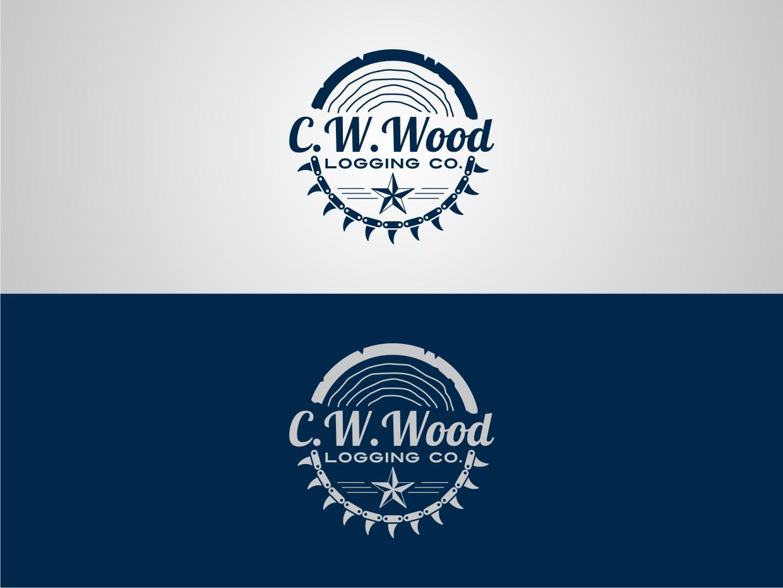 Logo Design By Atvento Graphics For CWWood Logging Company