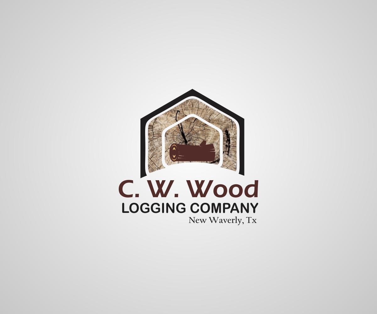Logo Design By KennestDesigns For CWWood Logging Company