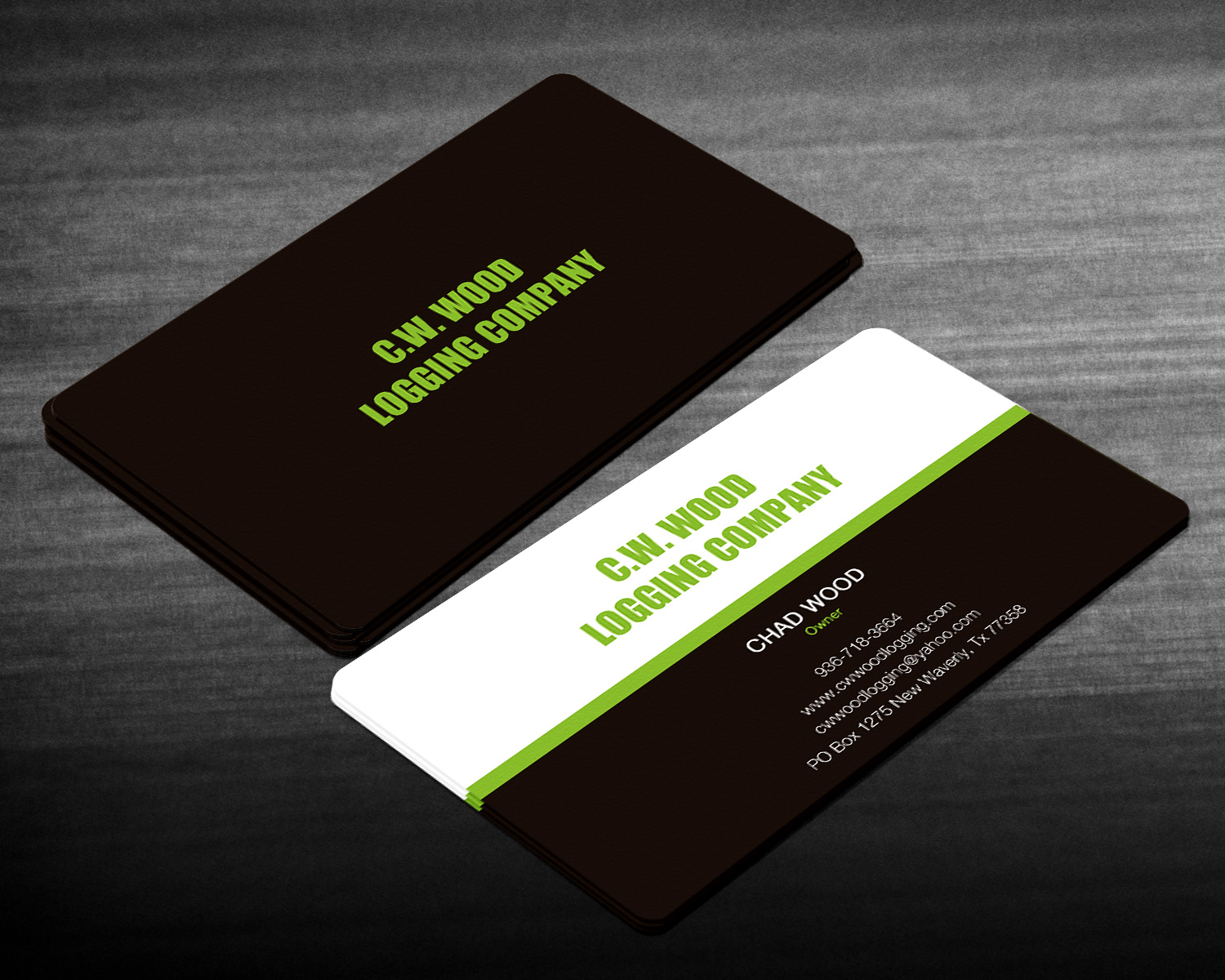 Professional, Masculine, Business Business Card Design for C.W.Wood ...