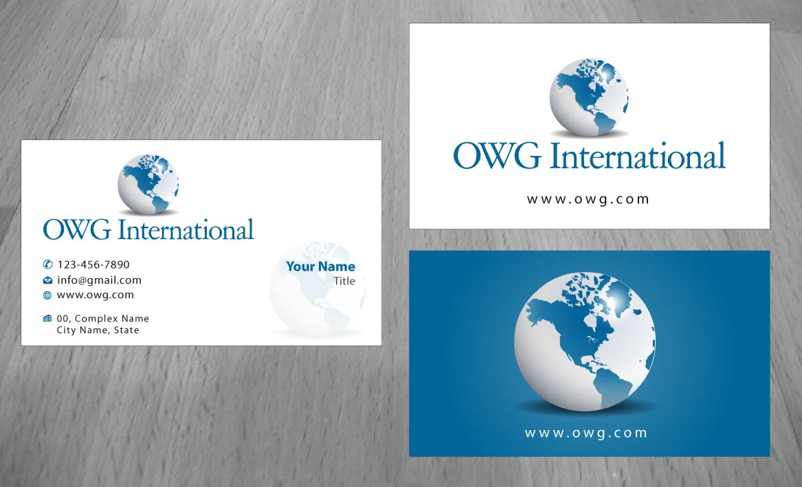Elegant, Serious, Safety Business Card Design for OWG International ...