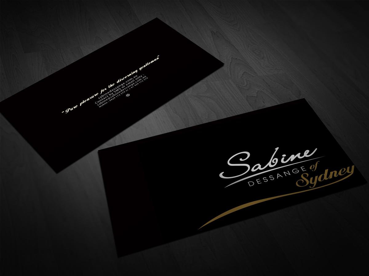 Elegant playful business business card design for a company by san business card design by san for this project design 1417162 colourmoves