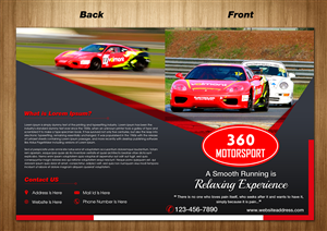 Brochure Design by SD Web Creation - 360 Motorsport