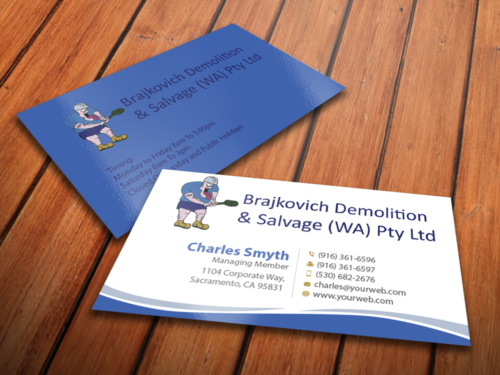 Building business card design for brajkovich demolition salvage building business card design for brajkovich demolition salvage wa pty ltd in australia design 4825916 colourmoves