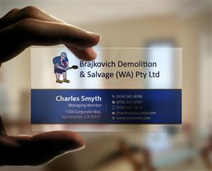 71 business card designs building business card design project for business card design by mediaproductionart for brajkovich demolition salvage wa pty ltd colourmoves