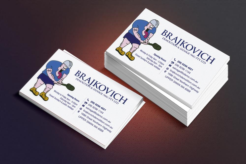 Building business card design for brajkovich demolition salvage building business card design for brajkovich demolition salvage wa pty ltd in australia design 4820485 colourmoves