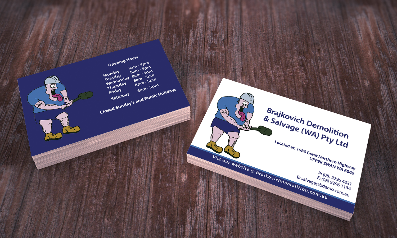 Building business card design for brajkovich demolition salvage business card design by stylez designz for brajkovich demolition salvage wa pty ltd colourmoves