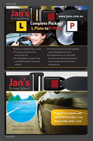 Driving School Postcard Designs   6 Postcards to Browse