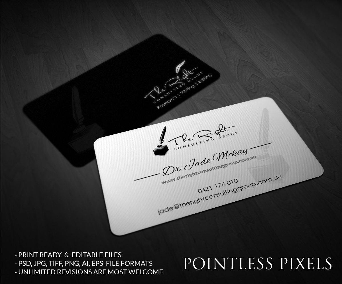 Feminine elegant business business card design for a company by business card design by pointless pixels india for this project design 4852022 reheart Image collections