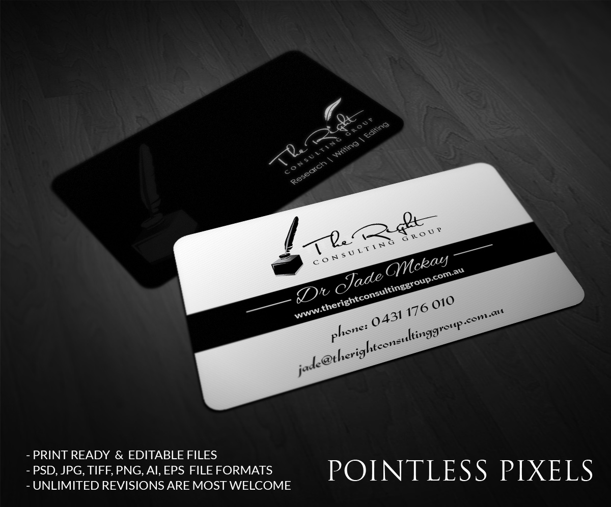 Feminine, Elegant, Business Business Card Design for a Company by ...