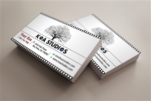 business card design by mahe for this project design 5058761 - Filmmaker Business Card
