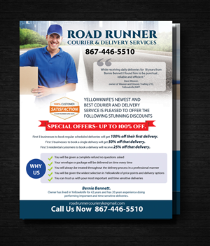 Delivery Service Flyer Designs 35 Flyers To Browse