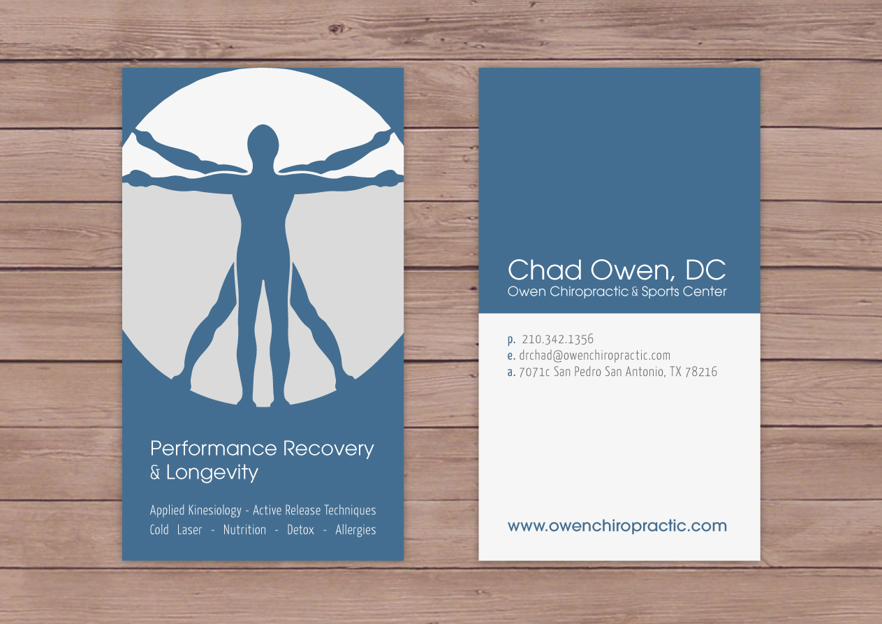 Bold, Serious Business Card Design for chad owen by Anne Bacheré ...