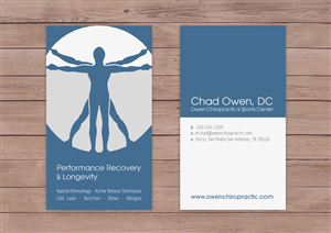 Bold serious business card design for chad owen by sarahtiara see more details colourmoves