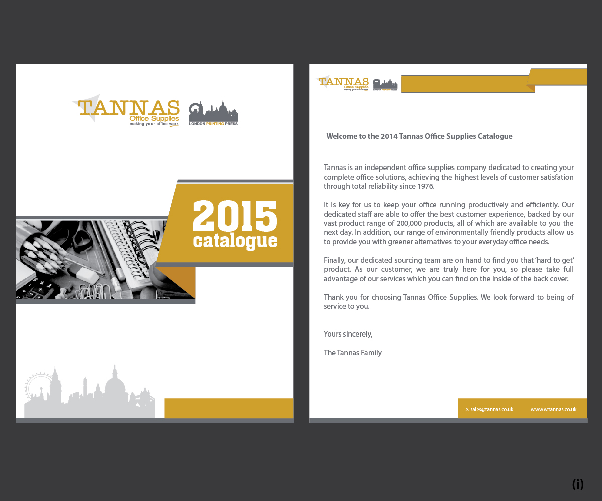 modern professional catalogue design for tannas ltd t a. Black Bedroom Furniture Sets. Home Design Ideas