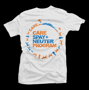 CARE - Spay and Neuter charity T-Shirt | T-shirt Design by D'Mono