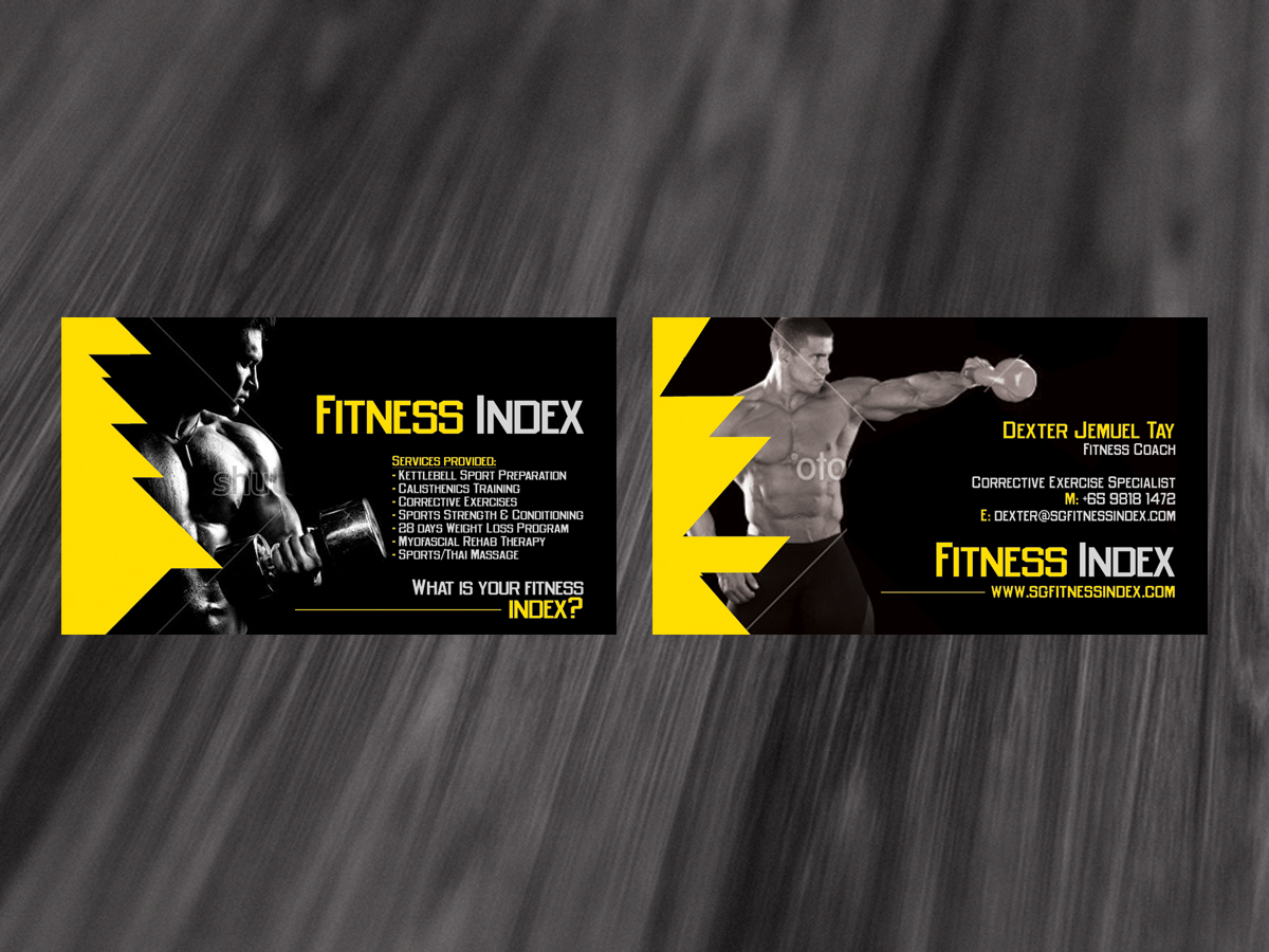 Modern, Upmarket Business Card Design for Fitness Index by diRtY ...