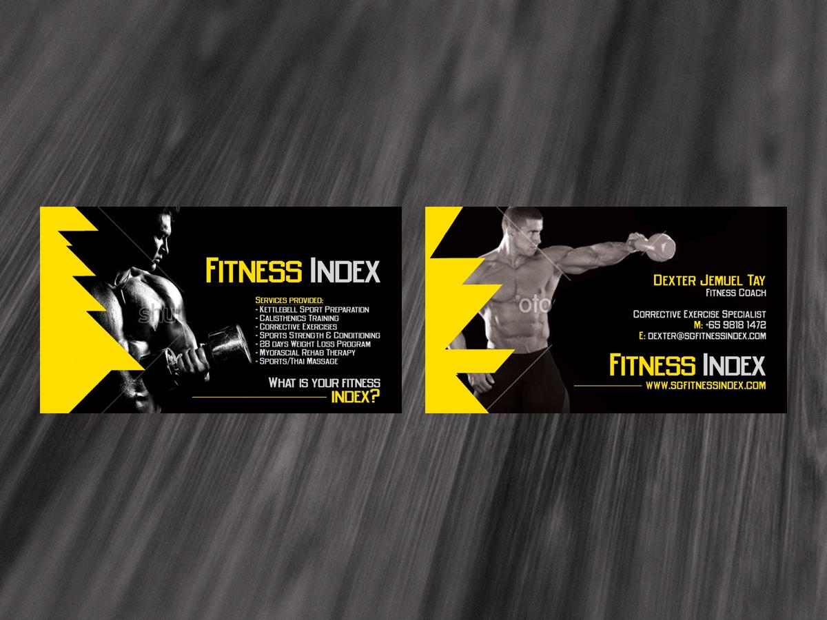 Modern Upmarket Business Card Design Design For Fitness
