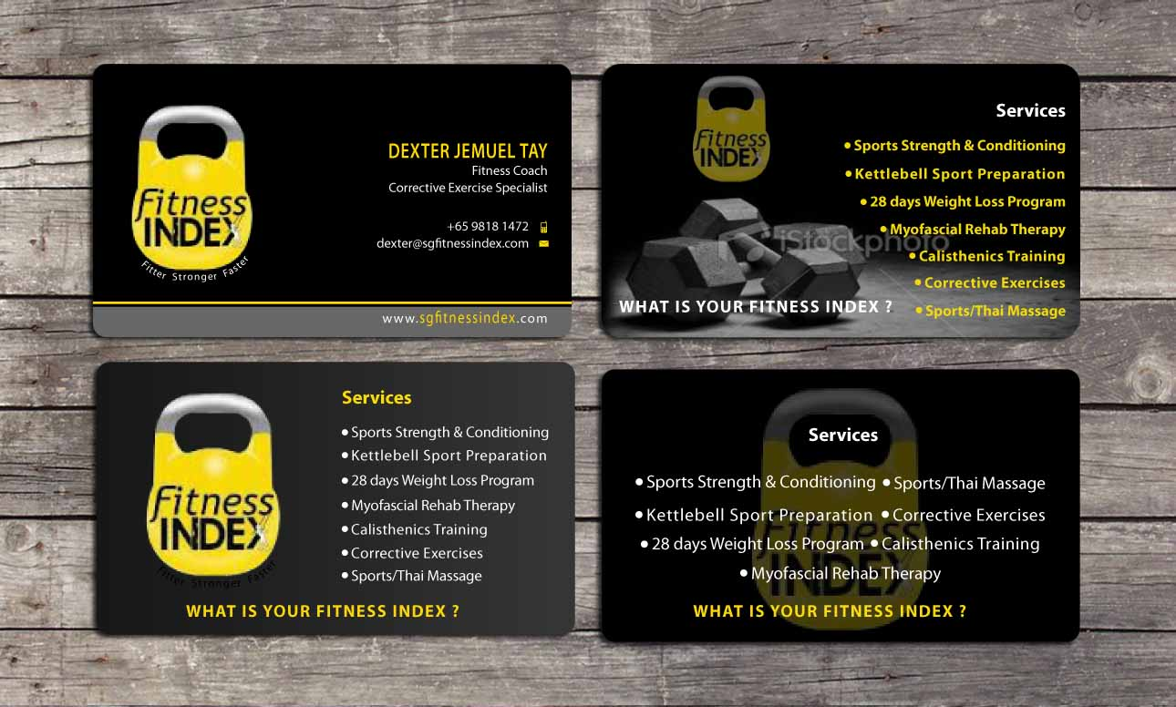 Business Card Design By Sbss For Fitness Index