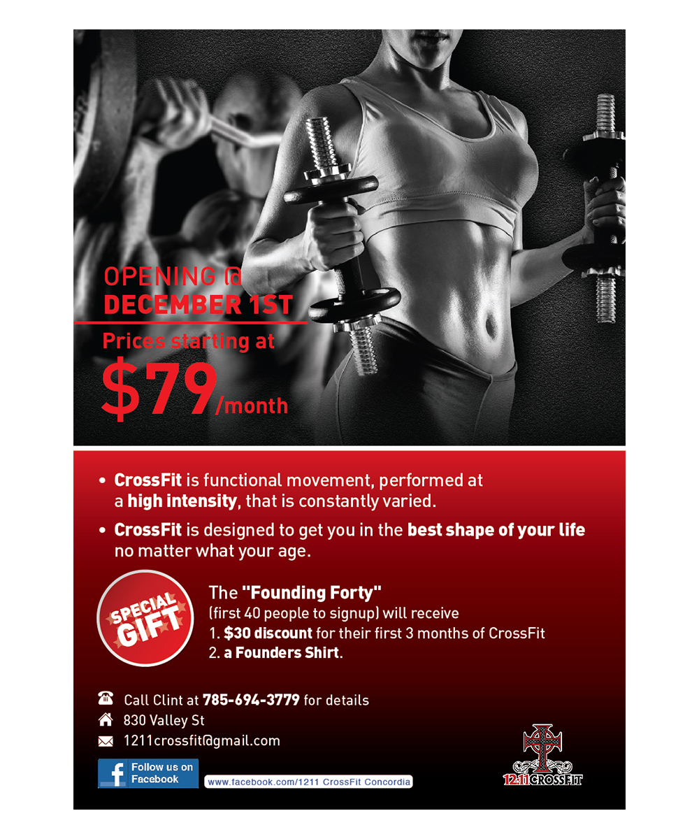 Gym Flyer Design for a Company by Mandyuen | Design #4845628